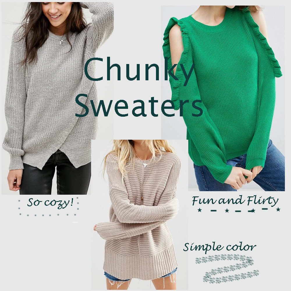 Thursday Three – Chunky Sweaters
