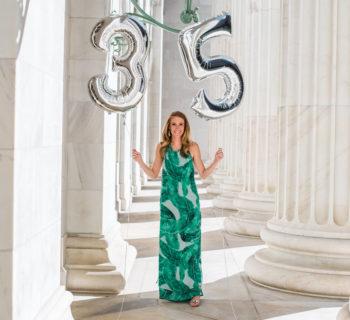 Birthday's + Green Floral Maxi Dress