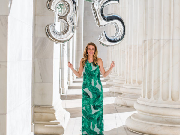 Birthday's + Green Floral Maxi Dress