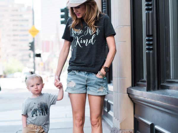 Kindness: Denim Shorts + Graphic Tee's